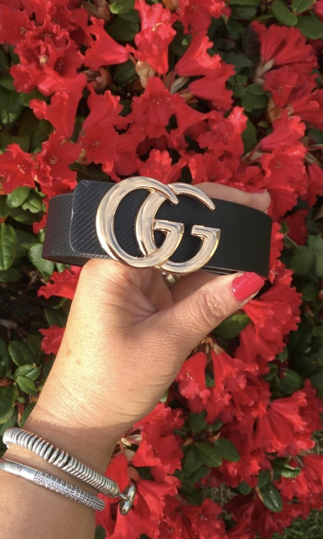 Black GG GOLD Belt