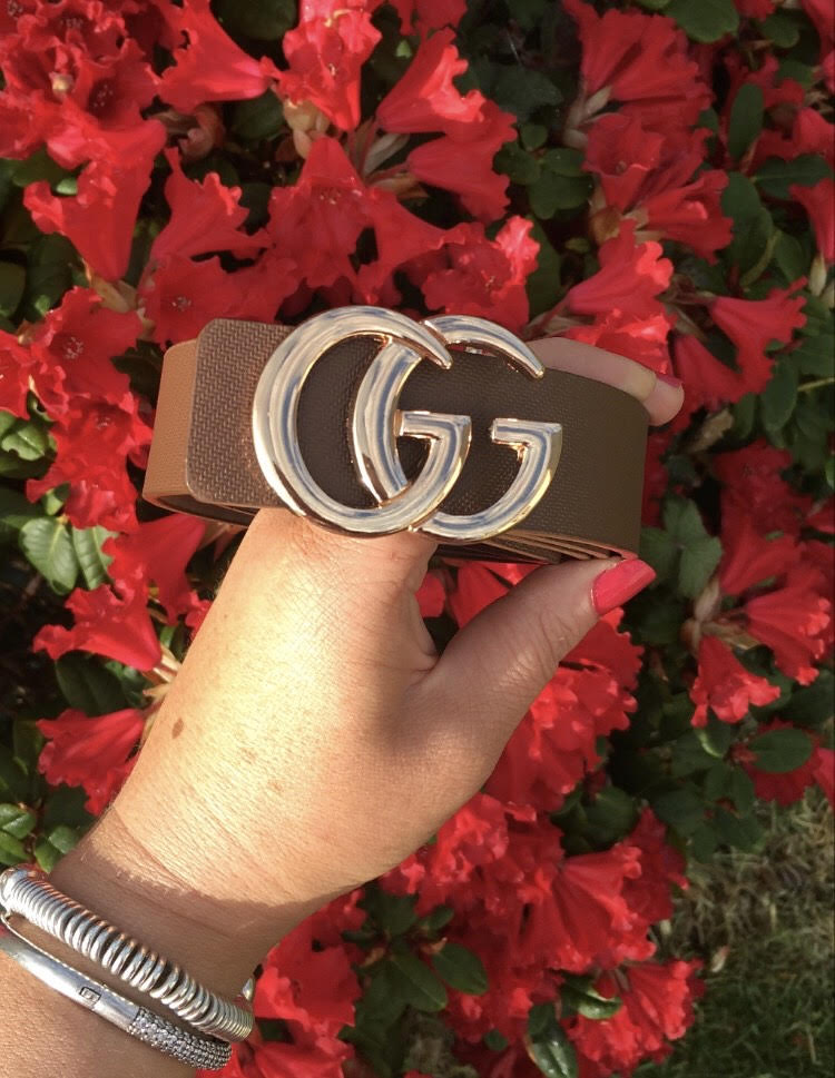 Brown GG Gold  Belt