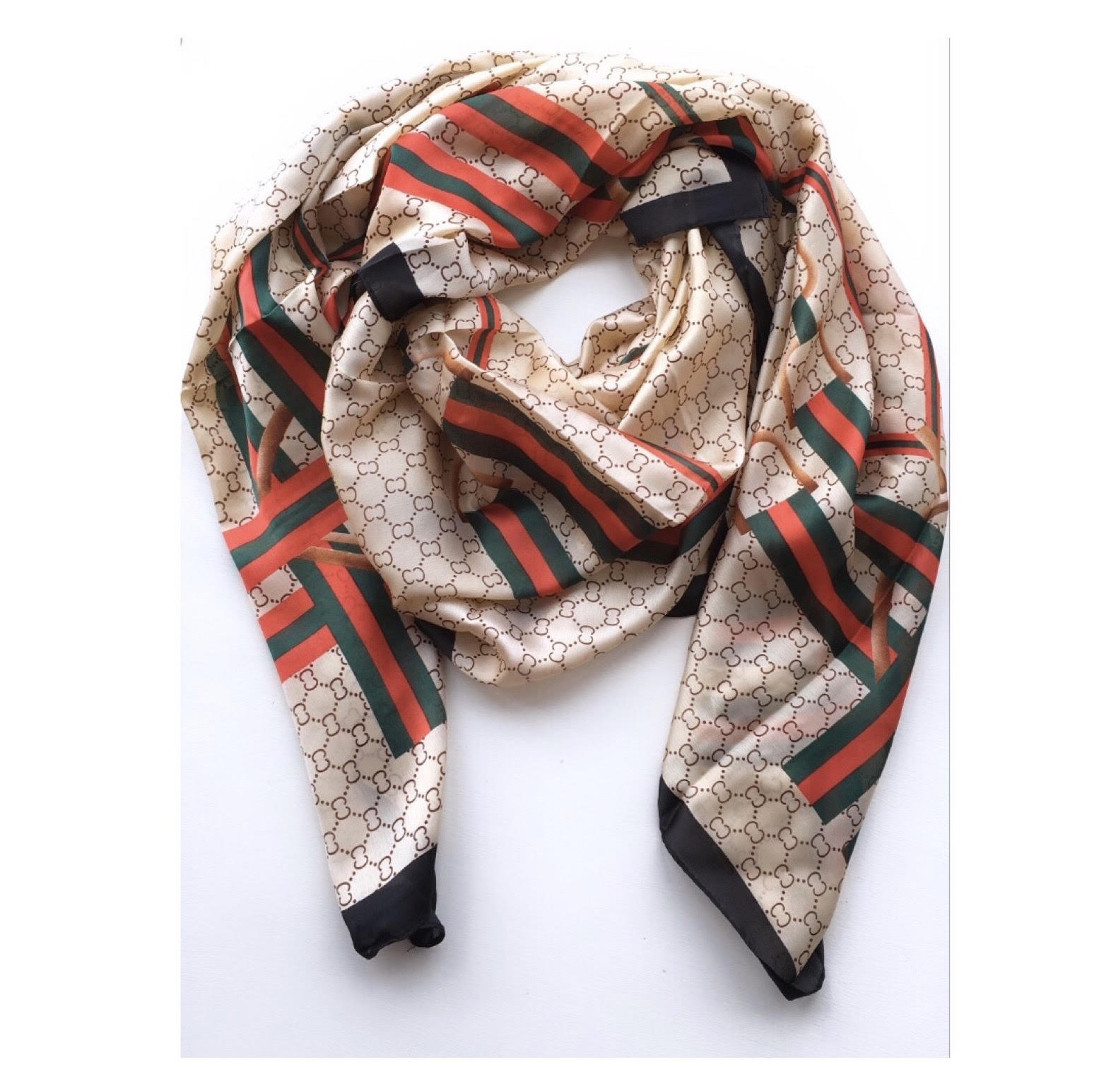 The G Beige  Scarf